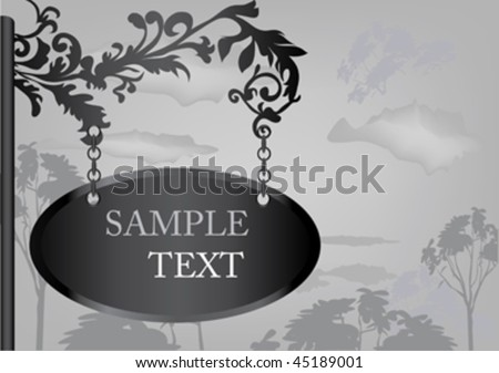 vintage style banner with place for text. - stock vector