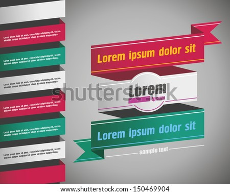 Vintage style banner with text. vintage ribbon banner - stock vector