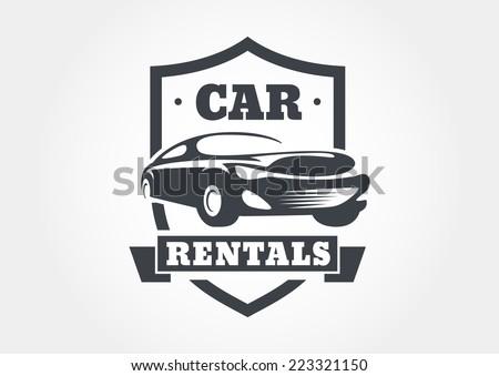 Vintage Style Car Rentals Label Vector Stock Vector 223321150 ...