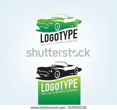 Vintage style car repair service label. Vector logo design template. Concept for automobile repair service, spare parts store. - stock vector