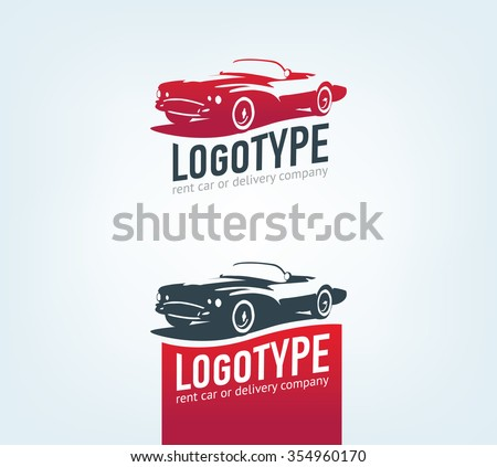 Vintage style car repair service label. Vector logo design template. Concept for automobile repair service, spare parts store. - stock vector