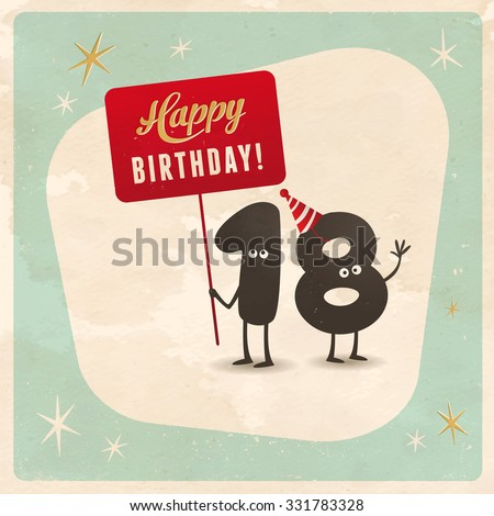 18 Year Old Images RoyaltyFree Images Vectors – Birthday Cards for 18 Year Olds