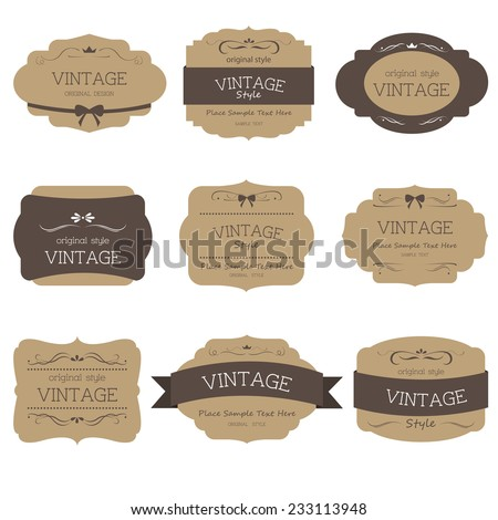 vintage-style-label - stock vector