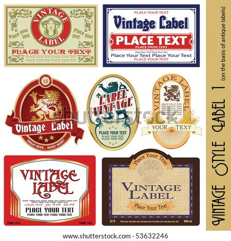 vintage style label (on the basis of antique labels) - stock vector