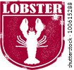 Vintage Style Lobster Graphic - stock vector
