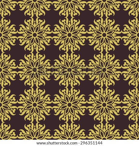 Vintage style pattern design, damask beautiful background, floral ornamentation, fashioned seamless vector wallpaper and wrapping paper - stock vector