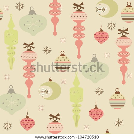 Vintage style pattern for Christmas, seamless background.