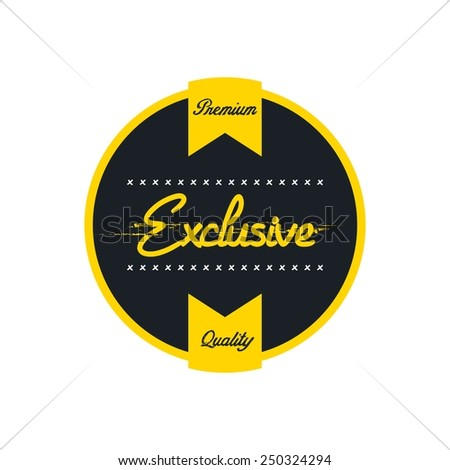 vintage style quality badge - vector illustration - stock vector