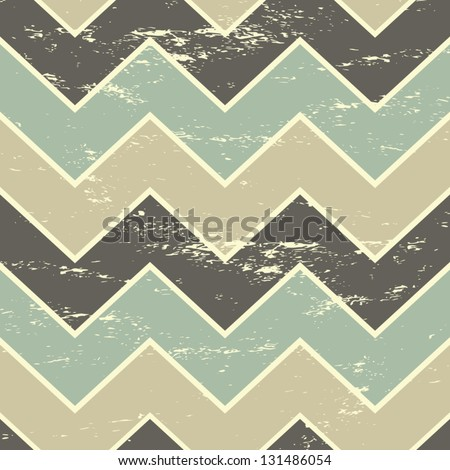 Vintage style seamless chevron pattern in pastel colors. - stock vector