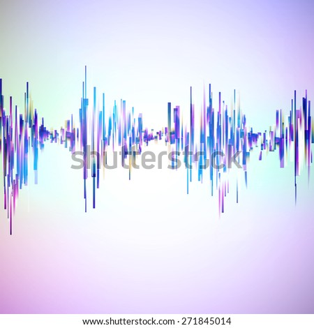 Vintage style technology equalizer illustration. Vector background for music themes. - stock vector