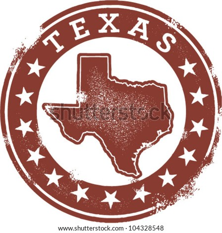 State of Texas Vector Logo Vintage Style Texas State Usa