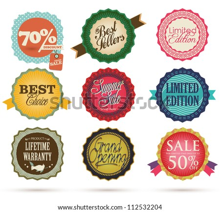 Vintage Styled Label - stock vector