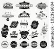 Vintage Styled Premium Quality And Satisfaction Guarantee Label Collection - stock photo
