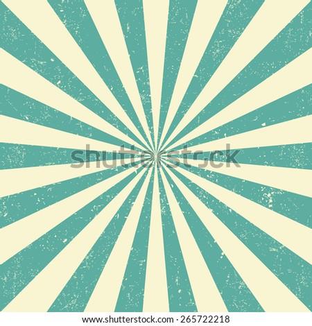 Vintage sun - stock vector