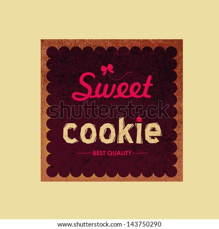 Vintage sweet shop label and logo - stock vector