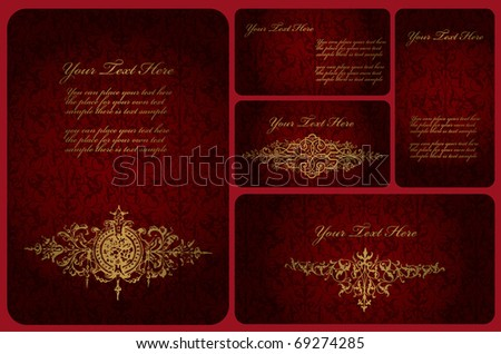 vintage templates for design - stock vector