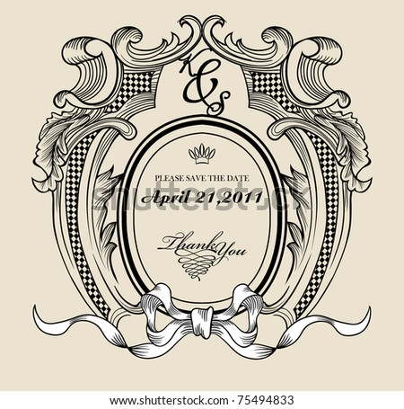 Vintage text frame for your need - stock vector
