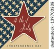 Vintage 4th of July, American Independence Day background with star. - stock