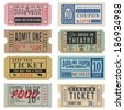 Vintage Theater Tickets & Coupons - stock vector