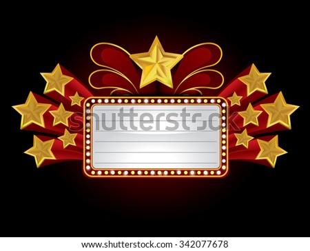 Vintage theatre sign, vector 10 - stock vector