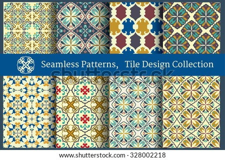 Vintage Tile designed Wallpapers Collection
