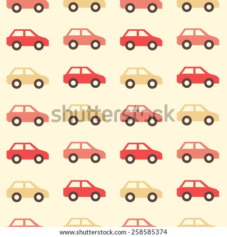 Seamless Pattern Red Luxary Cars Limo Stock Illustration 553136710 - Shutterstock