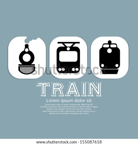 Vintage Train Collection Vector Illustration EPS10 - stock vector