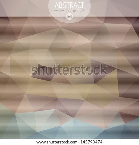 Vintage triangle pattern - stock vector
