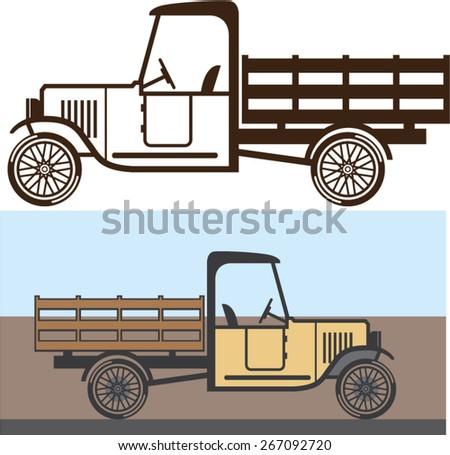 Vintage Truck - stock vector