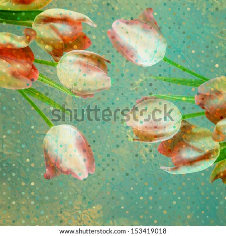 Vintage tulip wallpaper pattern. And also includes EPS 10 vector - stock vector