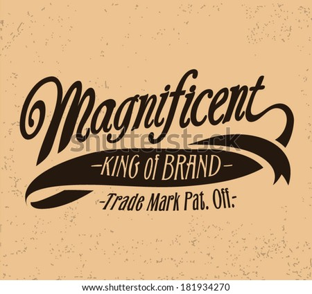 vintage type - stock vector
