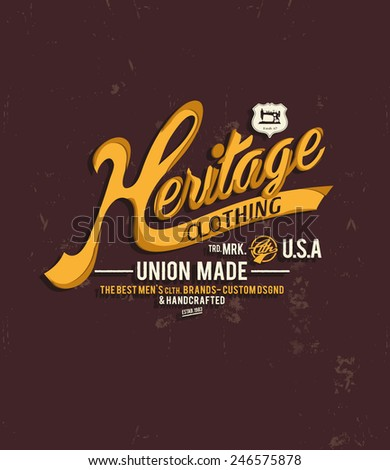 vintage typography for apparel 5 - stock vector