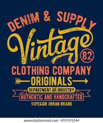 Vintage typography, t-shirt graphics. Vectors