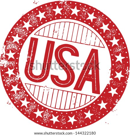 Vintage USA United States of America Stamp - stock vector