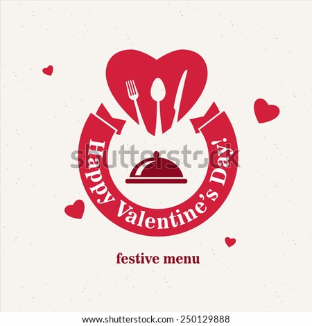 Vintage Valentine's Day Restaurant Menu - stock vector