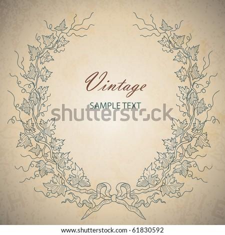 vintage vector - stock vector