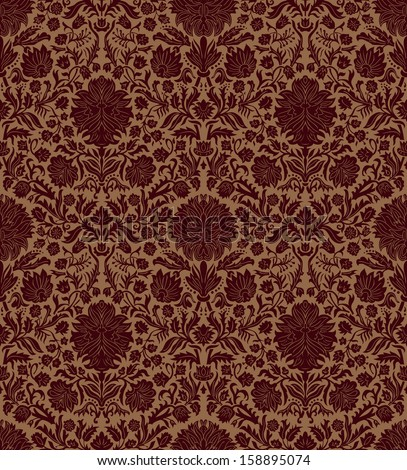 Vintage vector background with flowers. - stock vector