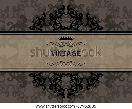 Vintage vector background with transparent element - stock vector