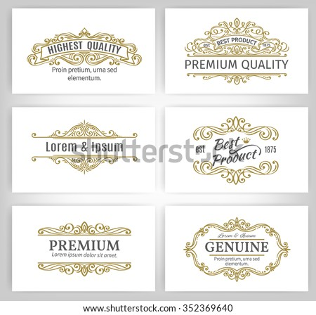 Vintage Vector Banners Labels Frames. Calligraphic Design Elements . Decorative Swirls,Scrolls, Dividers and Page Decoration.   - stock vector
