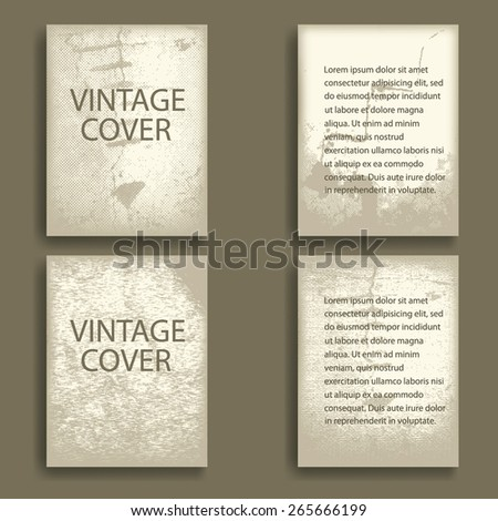 Vintage Vector Brochure Or Layout Magazine Abstract Flyer In Grunge Style