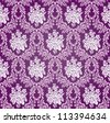 Vintage Vector Damask Floral Brocade Tapestry Wallpaper Background Pattern - stock vector