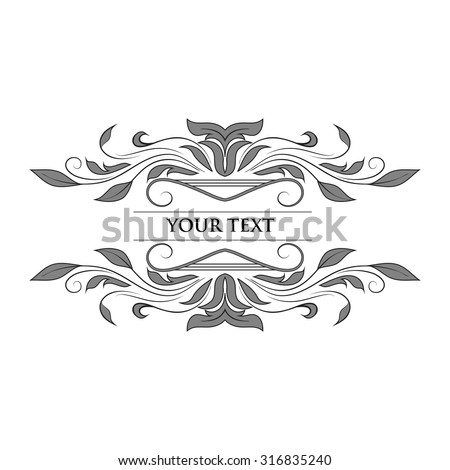 Vintage Vector Decorative Elements, calligraphic design elements and page decoration, exclusive, highest quality, retro style set of ornate floral patterns template - stock vector