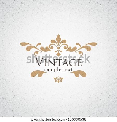 Vintage vector floral frame - stock vector