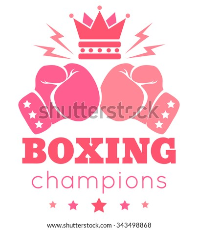 Vintage vector logo for a women's boxing