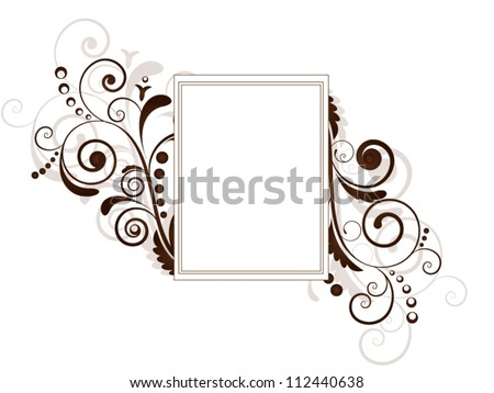 Vintage vector ornament background with floral elements and frame - stock vector