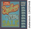 Vintage Warehouse Sale collection with handwritten header - stock photo