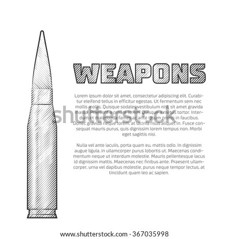 Vintage weapons poster - stock vector