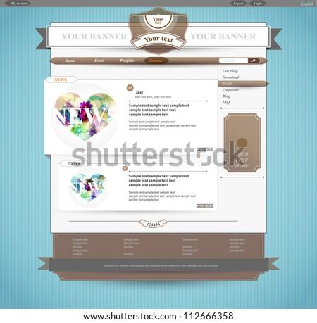 Vintage Web design - stock vector