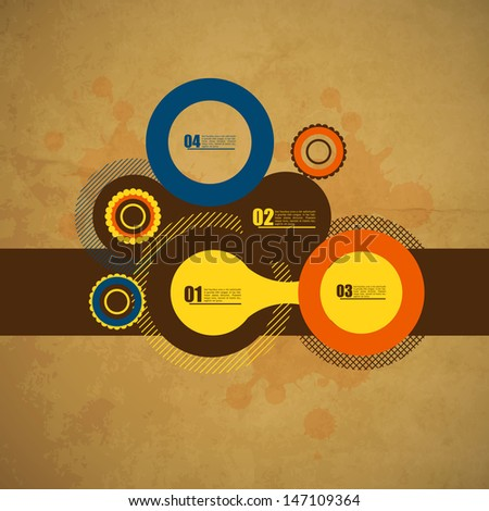 Vintage Web design template. Retro stlye. - stock vector
