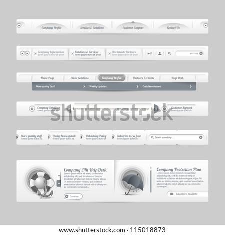 Vintage Web Site Design Template Navigation Stock Vector 115018873 ...